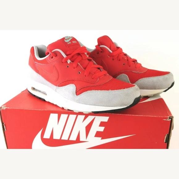 Nike Air Max 1 Essential Daring Red Mens Sneakers
